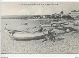 Cros De Cagnes à La Belle Epoque :  Vue Générale N°3 (barque Lena) Cp Vierge - Frankrijk
