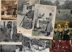 Lot 264 De 10 CPA Divers Métier Campagne Ferme Folklore Déstockage Pour Revendeurs Ou Collectionneurs - Cartes Postales