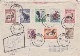 Afrique Du Sud  Union Sud Africaine  :  Divers Faune Sur Lettre Pour La Suisse CaD De Libode Du 31 01 1957 - South Africa (...-1961)