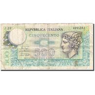 Italie, 500 Lire, 1966, KM:94, 1974-02-14, TB - 500 Lire