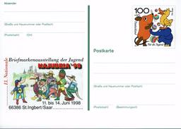 Deutschland 1998 - Postkarte - Najubria St. Ingbert / Saar - Briefmarkenausstellungen