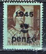 PIA - UNGHERIA  : 1945 - Francobollo Precedente Sovrastampato  - (Yv 702)