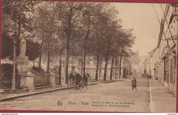 Aalst Alost Houtmarkt En Brusselschestraat Marche Au Bois Rue De Bruxelles Brusselse Straat Oude Postkaart Nels - Aalst