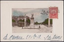 POS-665 CUBA POSTCARD. 1913. HABANA. CARLOS III STREET. TRANVIA RAILWAYS TO FRANCE. - Cuba