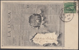 POS-668 CUBA POSTCARD. 1902. PERIODICOS LA LUCHA NEWSPAPER. A TURQUIA TURKEY. - Cuba
