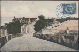 POS-674 CUBA POSTCARD. 1911. HABANA. LA CABAÑA CASTLE. VISTA DE LA CABAÑA. - Cuba
