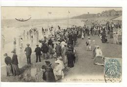 Carte Postale Ancienne  Cabourg - La Plage à L'heure Du Bain - Cabourg