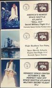 °°° USA - LOT SPACE - STS-51-J SHUTTLE ATLANTIS - 1985 - 9 PIECES °°° - FDC & Commemoratives