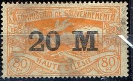 PIA - POLONIA  - ALTA SLESIA : 1922 - Francobollo Precedente Sovrastampato  - (Yv 61) - Silesia (Alta & Baja)
