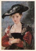 Painting By Peter Paul Rubens - Straw Hat , 1630 - Woman - Flemish Art - 1986 - Russia USSR - Unused - Malerei & Gemälde