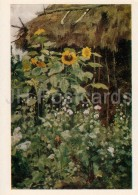 Painting By E. Polenova - Sunflowers , 1885 - Russian Art - 1980 - Russia USSR - Unused - Pittura & Quadri