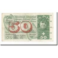 Suisse, 50 Franken, KM:47a, 1955-07-07, TB - Suiza