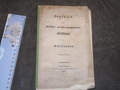 STATUTEN DER GESCHICHTS- UND ALTERHUMSSORSCHENDEN ... DES OSTERLANDES ALTENBURG 1854 - 8pp - Livres Anciens