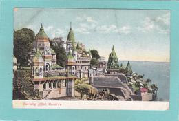 Old Postcard Of Burning Ghat,Benares,Varanasi, Uttar Pradesh, India,R34. - India