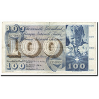 Suisse, 100 Franken, KM:49c, 1958-12-18, B+ - Suiza