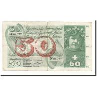 Suisse, 50 Franken, KM:47b, 1957-10-04, B - Suiza