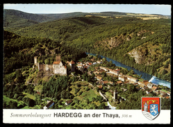 [028] Hardegg A.d. Thaya, Luftbild Gel. 1973, Bez. Hollabrunn, Verlag Alpine (Innsbruck) - Andere
