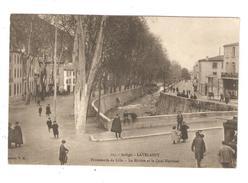 CPA 09 LAVELANET Promenade De Lille Rivière & Quai National - Lavelanet