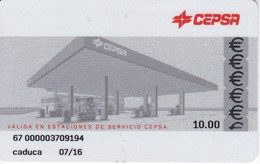 TARJETA DE GASOLINERA CEPSA  (no Es Tarjeta Telefonica) PETROLEO - Olie