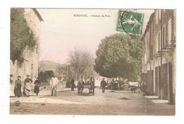 CPA 09 MIREPOIX Avenue Du Pont Animation Attelage Maisons Colorisée 1909 - Mirepoix