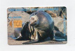 !!! TELECARTE DES TAAF N°7 OTARIE - 50 UNITES - TAAF - Terres Australes Antarctiques Françaises
