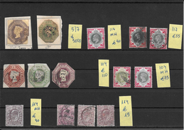 GRANDE BRETAGNE LOTE LOT 5-5-2017 EMBOSSED ISSUES ET AUTRES PLUS DE 6000 EUROS COTATION YVERT VOIR SCANS ALL AUTHENTIC - 1840-1901 (Victoria)