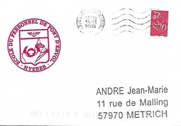 Cachet Mécanique 83800 Hyères Marine 14/11/2005 Lignes Ondulées à Droite - Marcophilie (Lettres)