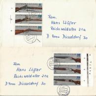 DDR  2376-2381 Waffen  2 Gelaufenen Belege  Mit Je 1 Zusammendrucken /Randstücke - Storia Postale