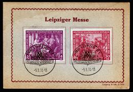 A4662) DDR Messe 1950 Auf Sonderkarte Mit SStempel 5.3.50 Ersttag - DDR