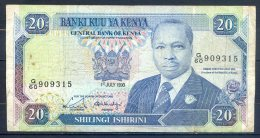 506-Kenya Billet De 20 Shillings 1990 G60 - Kenya