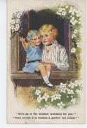 ENFANTS - Jolie Carte Fantaisie Fillette Et Femme à La Fenêtre - SENTINEL SERIES N° 1194 - Signée A A NASH - Autres Illustrateurs