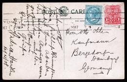A4665) New South Wales Australia Karte 1908 Nach Germany - Briefe U. Dokumente