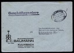 A4667) Bizone Brief Geschäftspapiere Mit Barfrankatur Kulmbach 21.5.46 - Bizone