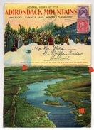 38871-ZE-ETATS UNIE- GENERAL VIEWS OF THE ADIRINDACK MOUNTAINS-------dépliant Avec Vues Diverses Recto Et Verso - Adirondack