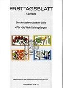 ALLEMAGNE  BERLIN  Carte Notice 1979  Arbres Meleze Noisetier Marronnier Prunellier - Arbres