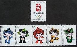 China 2005-28 Emblem Mascots Beijing 2008 Olympic Fuwa