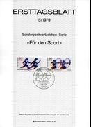 ALLEMAGNE BERLIN   Carte Notice   1979   Tir A L Arc Course Relais - Bogenschiessen
