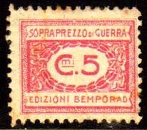 10535 Italia Selos De Sobrepreço De Guerra 5 Cts N (a) - Revenue Stamps