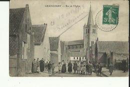 Graincourt  62    La Rue De L'Eglise Tres  Tres  Animée - Andere Gemeenten