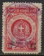 10538 Italia Selos Fiscais Brescia U - Revenue Stamps