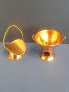 Ensemble Art Populaire De Collection En Cuivre - Coppers