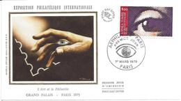 ENVELOPPE 1er JOUR - FDC - N° 1830 - ARPHILA - L'OEIL - 1970-1979