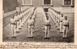 V8888 Cpa Militaire - Armée Belge - Ecole Normale De Gymnastique Et D'Escrime - Militaria
