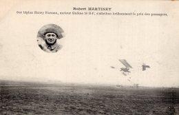 V8901 Cpa Aviation -    Robert Martinet Sur Biplan Henry Farman - Aviatori