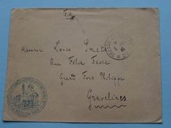 Enveloppe ( 2e Corps D'Armée-Hopital De Campagne N° 7 GRAVELINS Nord ) Anno 1915 ( Zie/voir Foto Voor/pour Détails ) ! - Marcophilie (Lettres)