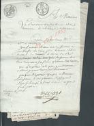 CHÂLONS SUR MARNE LOT DE 4 VIEUX DOCUMENTS TRIBUNAL DE COMMERCE 1827 : - Manuskripte