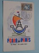 XIIIe Salon Int. De La Philatelie FOIR De PARIS - Anno 1957 ( Zie/voir Foto Voor/pour Détails ) ! - Maximumkaarten