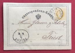 LEOPOLDSTADT WIEN  + TRIEST Annulli Austria  SU CARTOLINA POSTALE N.1 DA  2 Kr. IL 3/3/1871 - Briefe U. Dokumente