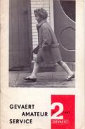 Magazine - Tijdschrift Fotografie Foto Amateur Service - Pub Reclame - Gevaert Mortsel Antwerpen 2/ 1962 - Pratique