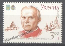 Ukraine 2001 Yvert 435, Visit Of The Pope John Paul II - MNH - Ucrania
